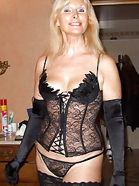 MATURE WEARING LINGERIE 4
