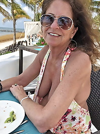 Top-notch mature gilf is playing with her boobs